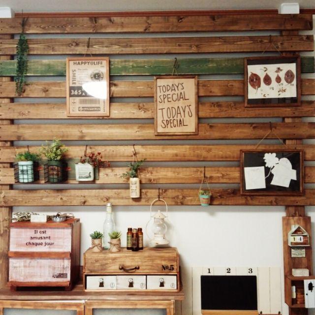 Mikaさんの、壁/天井,DIY 初心者,フェイクグリーン♡,キャンドゥのフェイク多肉,たくさんのいいねありがとうございます♡,ターナーミルクペイント,写真がヘタ┐(´~`;)┌,セリア大好き♡,ディアウォール壁,のお部屋写真
