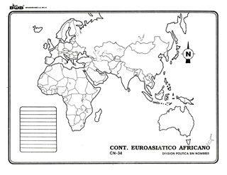 Euroasiático africano - División política s/n | Ediciones Bob