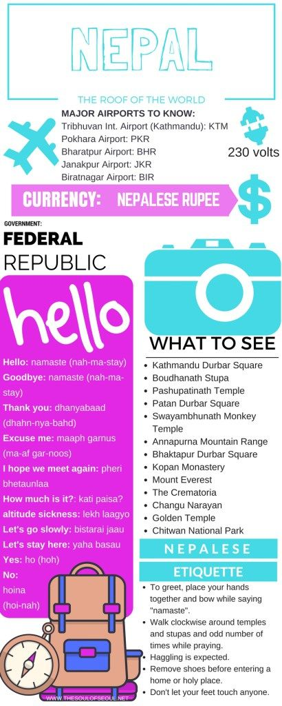 The Soul of Seoul Nepal Travel Infographic