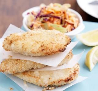 Chicken schnitzel with coleslaw | Australian Healthy Food Guide