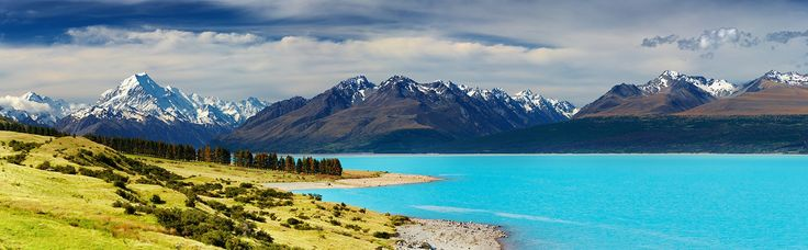Visit 100% Pure #NewZealand - Lush with natural greenery & has snow capped mountains that dip down to the ocean.