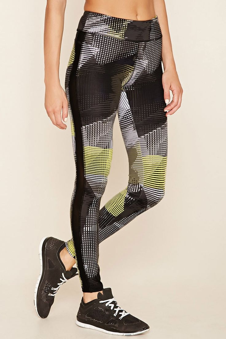 Active Abstract Print Leggings Forever 21 2000219542