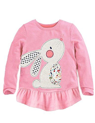 c96ebbd2 Discounted Rabbit Elephant 100% Cotton Little Girls Top Long Sleeve Clothes  Toddler Kids T-Shirt (Pink,18M-6T) #18M-6T) #Clothes ...