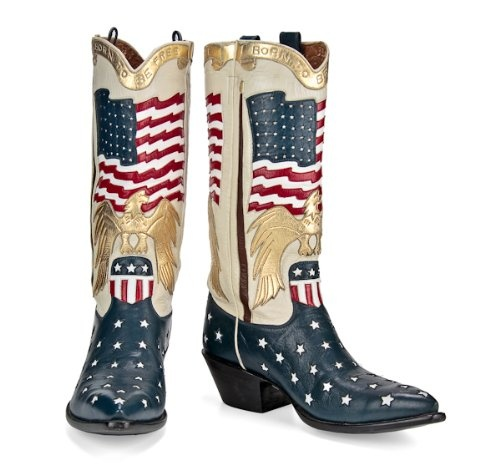 Pride of America. Back at the Ranch - Women's - Stars & Stripes - Hand Made Boot - Red, White and Blue: Cowgirl Boots, Shoes, Flag Boots, Style, Cowboys, Stars Stripes, Red White, American Flag Cowboy Boots