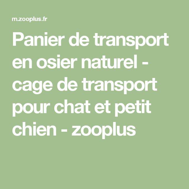 Panier de transport en osier naturel - cage de transport pour chat et petit chien - zooplus
