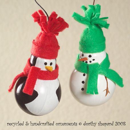 Light bulb ornamentsChristmas Crafts, Crafts Ideas, Lightbulb Ornaments, Diy Ornaments, Lightbulbs Ornaments, Lights Bulbs, Homemade Christmas Ornaments, Diy Snowman Ornaments, Christmas Ideas