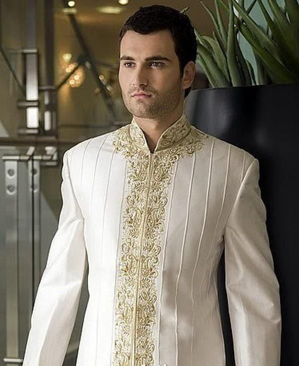 India Clothing for Men | Indian Fashion For Men- White Wedding! | Soma Sengupta's Fashion ...