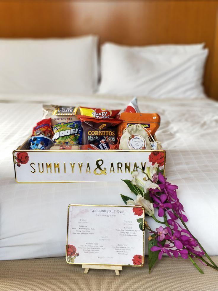 Luxury Indian Weddings Personalised Gift Hamper Wedding Itinerary Gift Ideas For Wedding Indian Wedding Gifts Wedding Gifts Packaging Wedding Gift Hampers