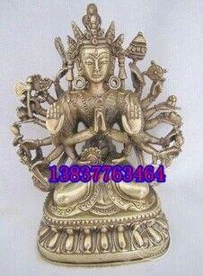 Open light copper copper Guanyin Buddha Avalokitesvara Avalokitesvara Tibetan Buddhism copper ornaments