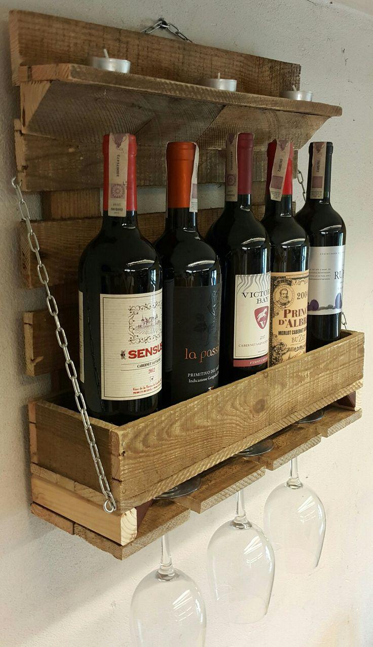 Skrzynka Drewniana Półka na Wino Regał Stojak na Wino Handmade