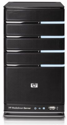 HP's latest mediasmart home server can stack up to 17TB of storage in a box the size of one of those little desktop fridges you can buy from Skymall.