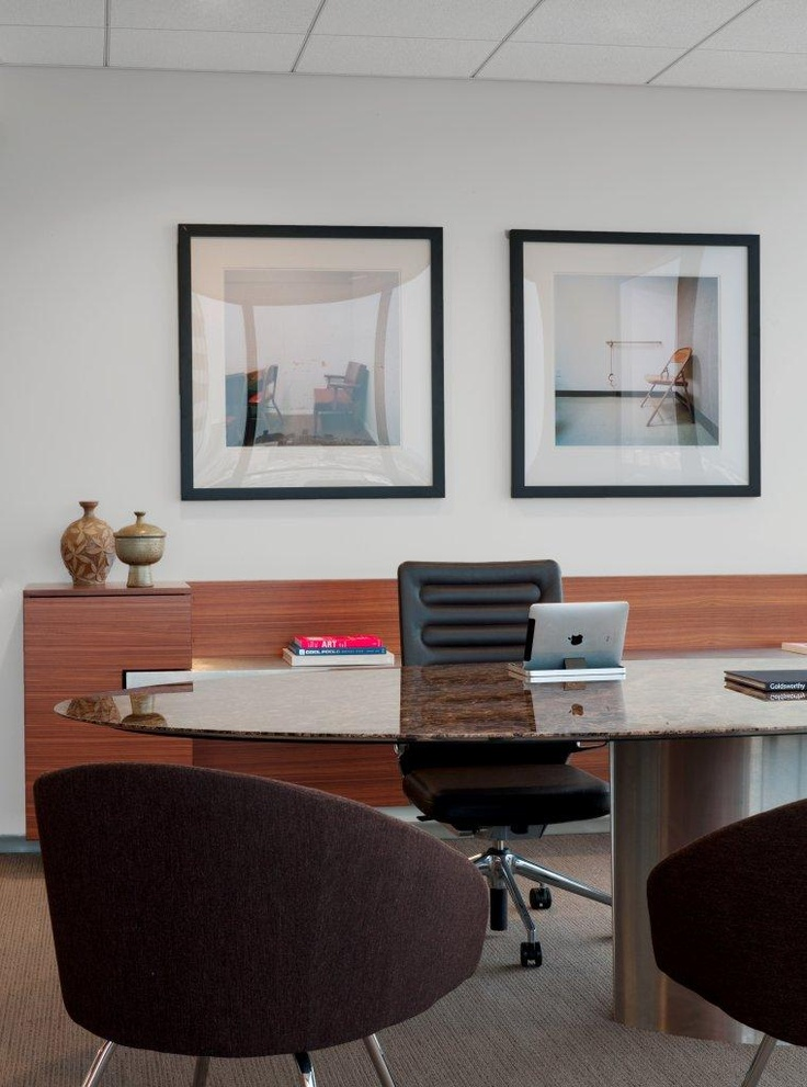 Another View Of A Kottler Legal Office Minimal And Modern Table Design With Wood Glass Marble Steel