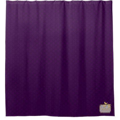 Dark Purple Flat Patterned Popular Shower Curtain - shower gifts diy customize creative