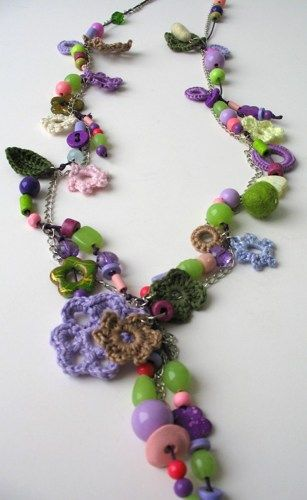 The Magic of Colors Necklaces Collection   DreamList - Crochet on ArtFire