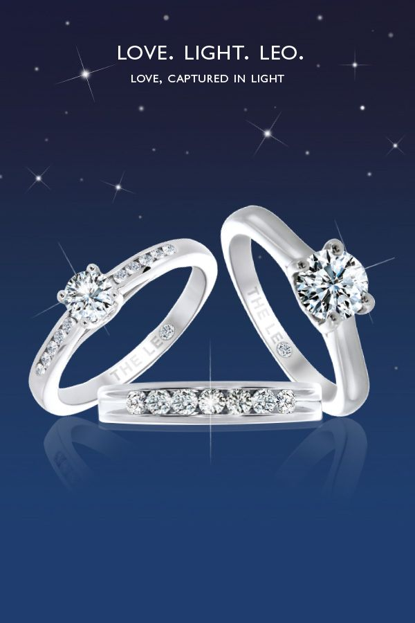 From ernestjones.co.uk/leo-diamond The unique way the Leo Diamond™ reflects light became known as the Far Away Sparkle™ effect, promising superior brilliance. Celebrate your commitment to each other and let Leo Diamond™ capture your love in light.
