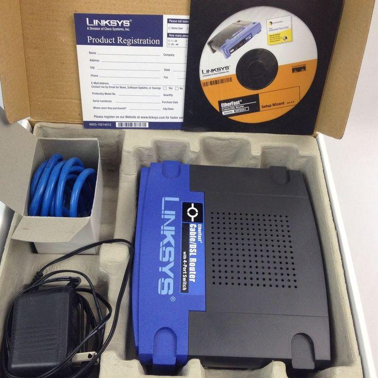 Cisco Linksys BEFSR41 Ethernet Fast Cable/DSL Router With 4-Port 10/100 Switch #Linksys #Cisco #Ethernet #Cable #router #DSL