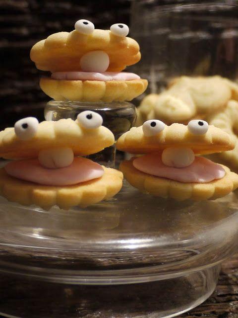 galletas con forma de ostras