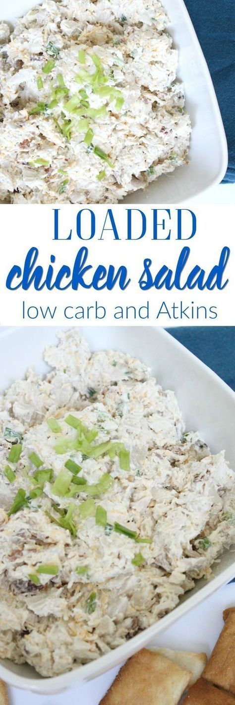 Low Carb, Atkins and Keto Loaded Chicken Salad
