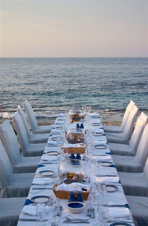 dinner party on the beach...