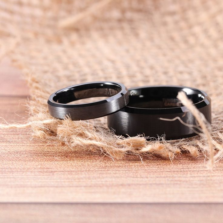 This pair of Black Couple Rings are made from highquality