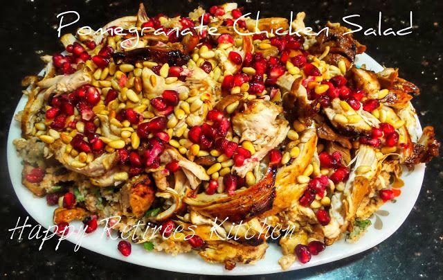 Happy Retiree's Kitchen: Pomegranate Chicken and Burghul Salad