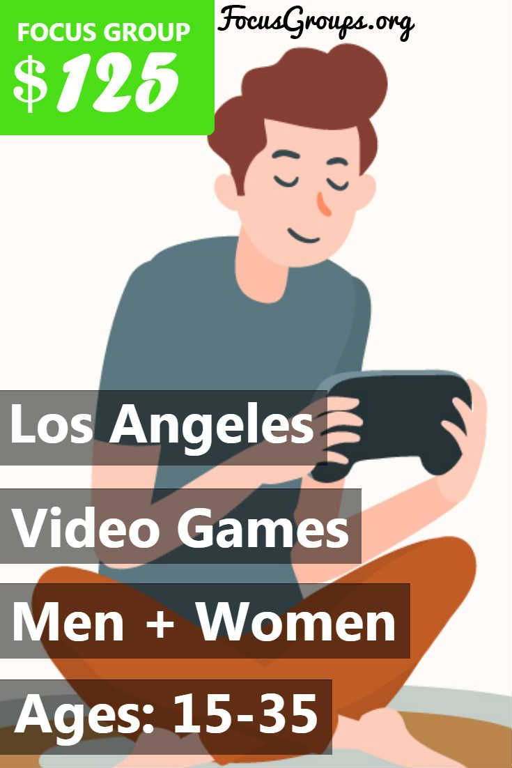 Focus Group for Men on Video Games in NYC - $125   Focus ...  Focus Group Games
