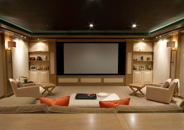 Media Room. Media Room Screen Ideas. #MediaRoom #MediaRoomScreen SBK Partnership, LLC - ARCHITECTURE