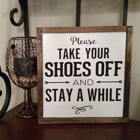Take Your Shoes Off  Framed Wood Sign   Wall Hangings   Framed Art   Farmhouse Signs   Home Decor   Entry Way Decor   Home Sign by DanielleGraceDesign1 on Etsy