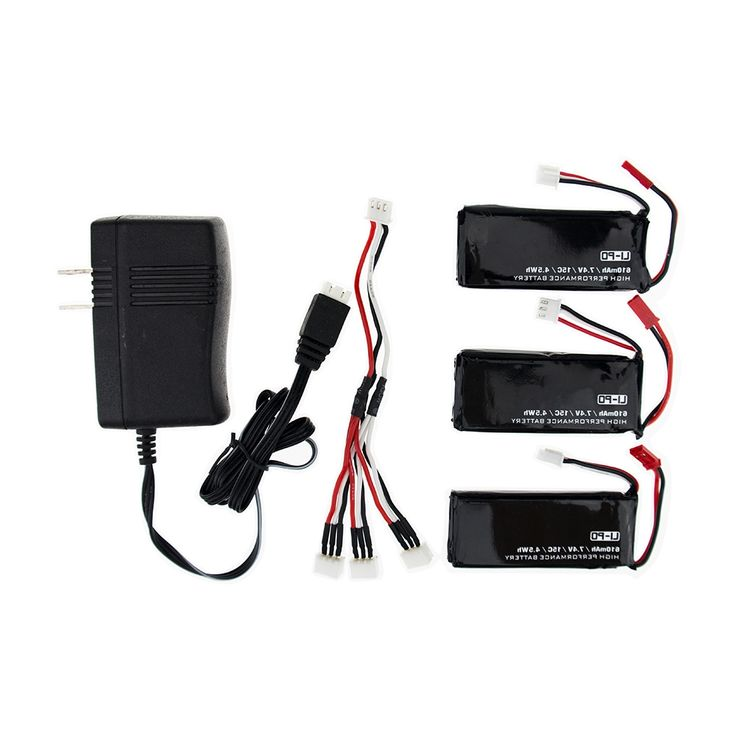 33.66$  Buy now - http://alimbn.worldwells.pw/go.php?t=32714092718 -  H502E X4 Batteries H502S RC 610mAh Lipo 7.4V Battery 15C With 3in1 Cable Charger Set For Hubsan H502E Quadcopter Airplane Drone