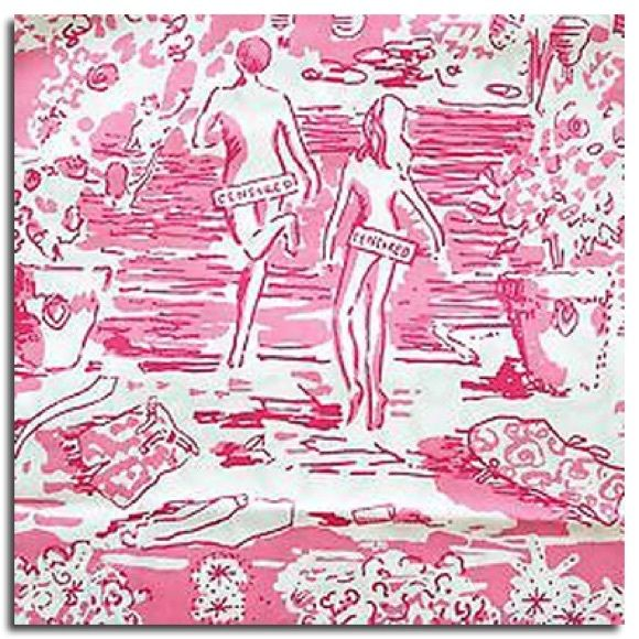 Lilly Pulitzer skinny dippin Betty shorts dipping Size 10 brand new golf / Bermuda shorts in hotty pink skinny dippin censored on people's butts make this print a hot hot hot one. The rare and holy grail of them all. No one has this item listed anywhere I could find. Tags still attached. Gorgeous print. Lilly Pulitzer Shorts Bermudas