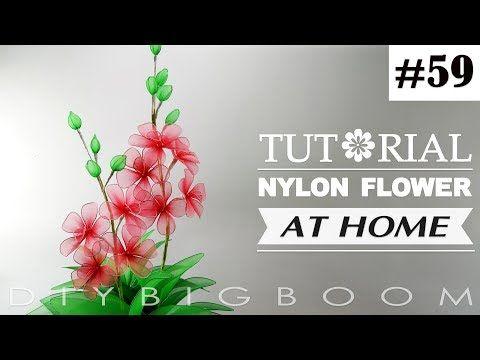 Nylon stocking flowers tutorial #63, How to make nylon stocking flower step by step - YouTube