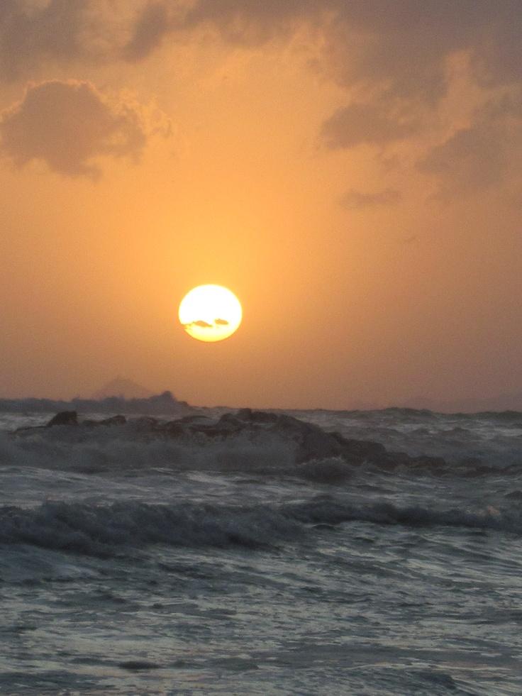 sognando durante il tramonto sul mare...