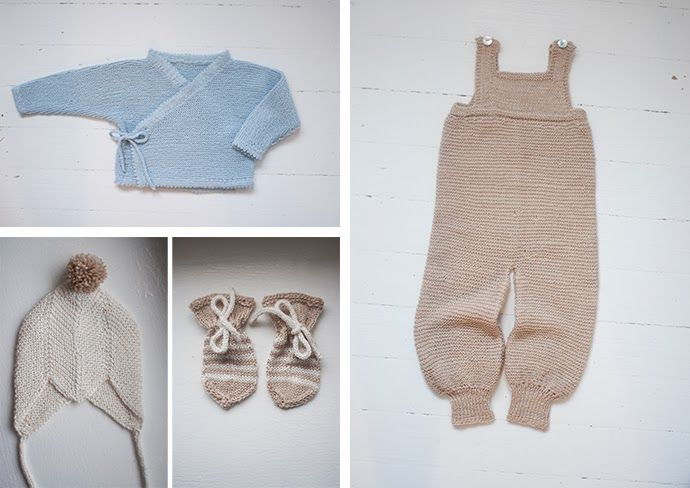 Knitted gifts for a little winter baby.