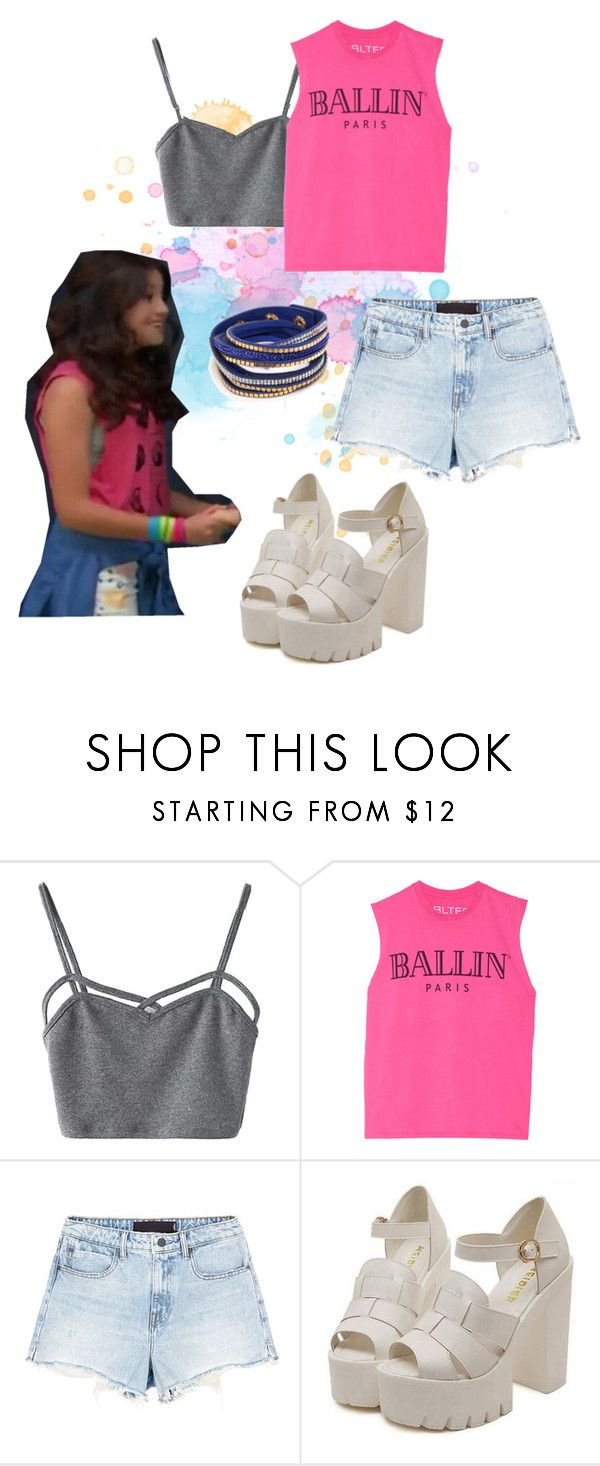 """soy luna"" by maria-look ❤ liked on Polyvore featuring WithChic, Brian Lichtenberg and Alexander Wang"
