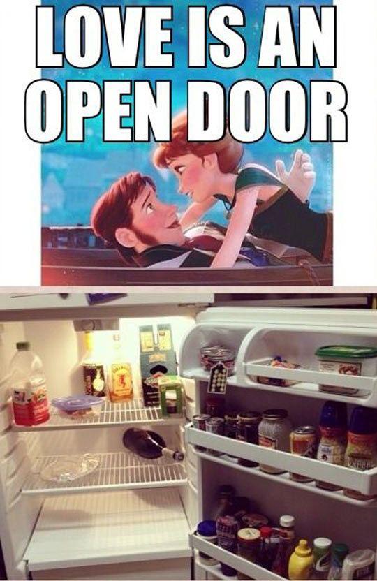 Love is an open door...lol