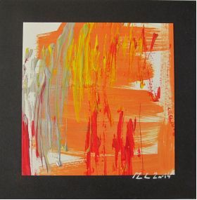 Nr. 692 Donna (2014) von Manuel Süess 20x20cm, Acryl auf Papier, CHF 50.00 #Malerei #Donna http://art-by-manuel.com