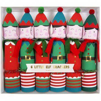 6 Crackers Elfes de Noël
