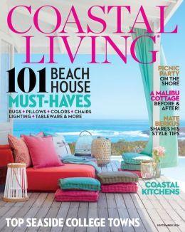 Coastal Living Magazine   September 2014