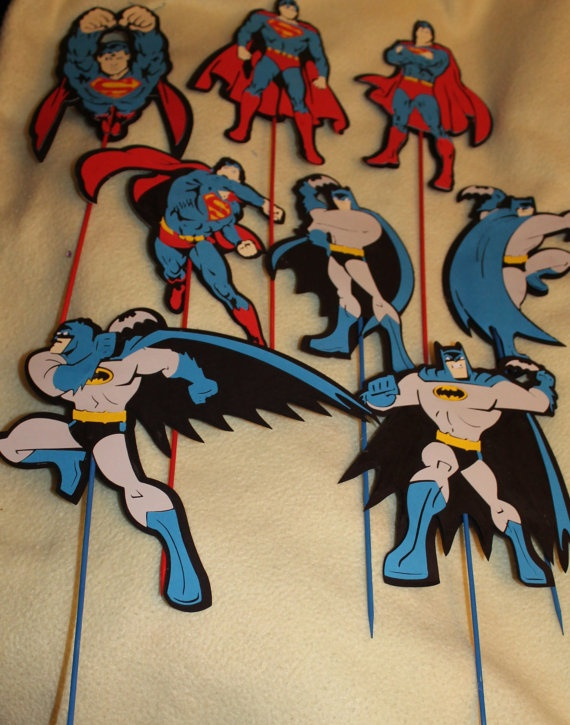 Super Hero Party Decor Batman Superman Large charactor by jscrewey, $19.99