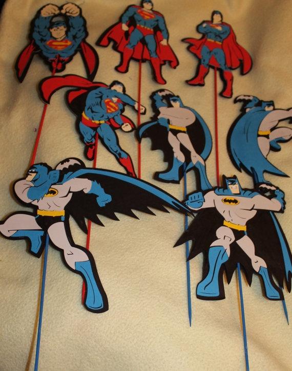 Super Hero Party Decor Batman Superman Large charactor by jscrewey, $19.99