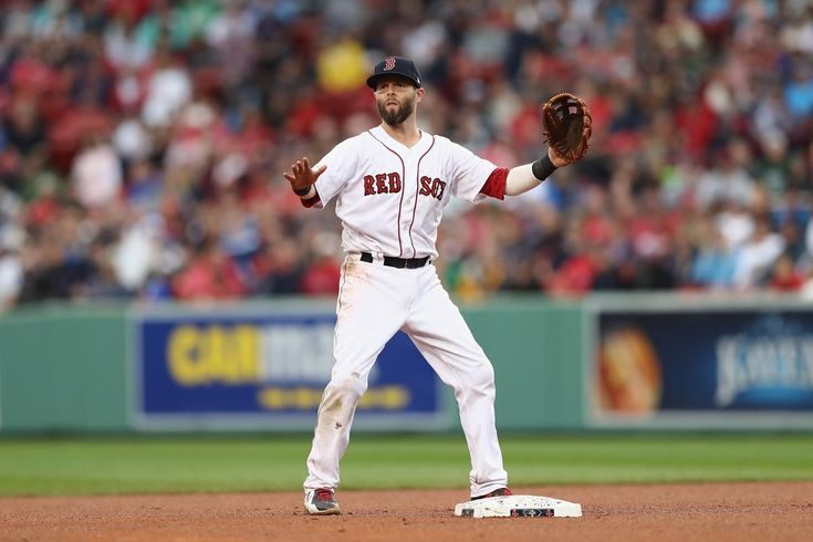 BOSTON, MA - OCTOBER 09: Dustin Pedroia #15 of the Boston Red Sox calls for the ball in the eighth inning against the Houston Astros during game four of the American League Division Series at Fenway Park on October 9, 2017 in Boston, Massachusetts. (Photo by Elsa/Getty Images)