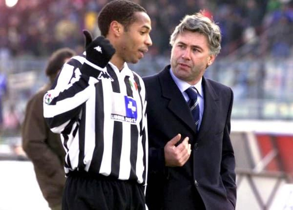Thierry Henry and Carlo Ancelotti