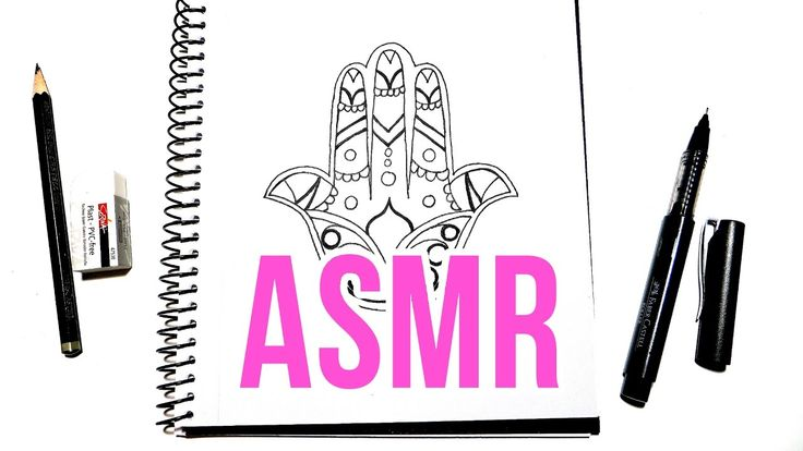 Watch and listen to me draw in real time to help you relax or fall asleep. ASMR Doodle No Talking. Hamsa Hand Pencil Drawing.