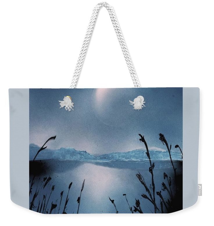 Moon Fog Weekender Tote Bag Printed with Fine Art spray painting image Moon Fog Nandor Molnar (When you visit the Shop, change the size, background color and image size as you wish)