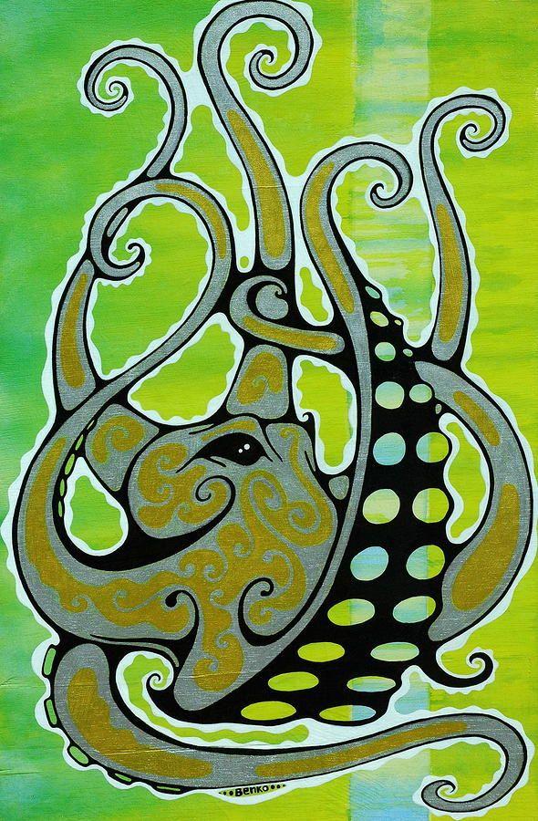Octopus Painting  - Octopus Fine Art Print