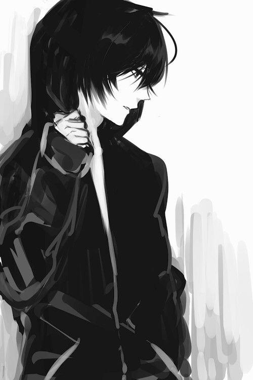 Black and boy manga boy