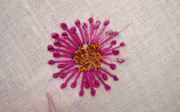 French knot flower tutorial stitch away pinterest