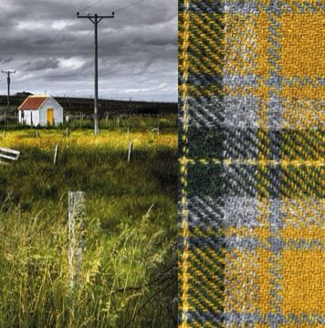 Ian Lawson, Harris Tweed is a unique fabric hand-woven by the islanders on Scotland's Isles of Harris, Lewis, Uist and Barra, using local dyes.
