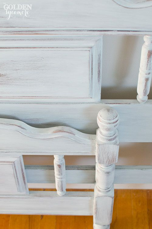 Miss Mustard Seed S Milk Painted Bed Frame From Thegoldensycamore Com