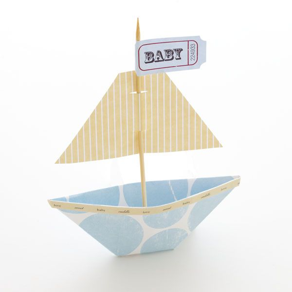How to make your own party favor sail boat!